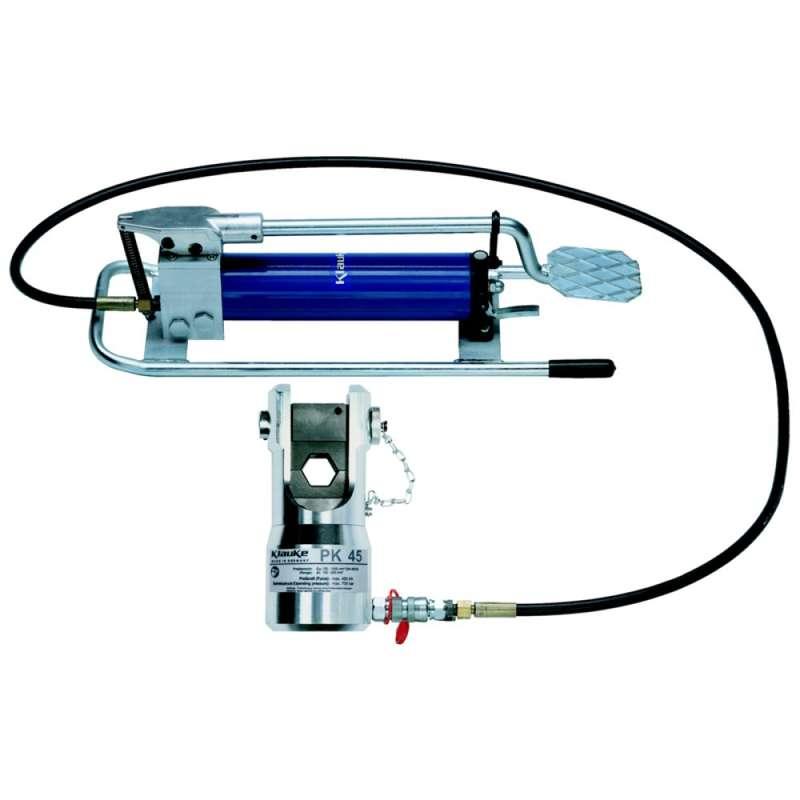 klauke hk4 hk 45 hydraulic crimping tool with foot pump 120 1 000 mm heamar company limited. Black Bedroom Furniture Sets. Home Design Ideas