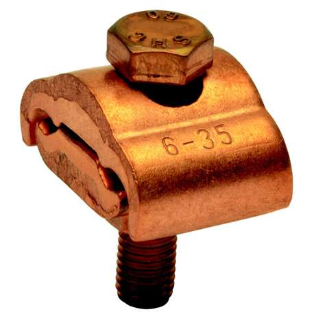 Klauke K14 Parallel groove clamps, Cu, without thrust plate, 1 bolt