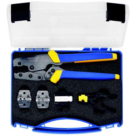Klauke K907MCSET K907 MC SET Case with crimping tool for multi-contact plug connectors and photovoltaic stripper