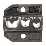 Rennsteig 62409730 2x6mm² 2x10mm² & 2x16mm² Crimping Die