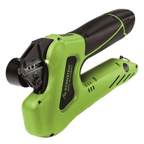 Rennsteig 637004001 E-PEW 12 Crimp Tool in case with Australia/Oceania charger