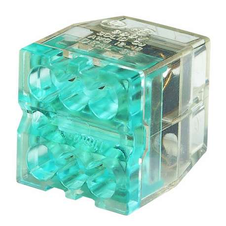 IDEAL 30-088 6 PORT IN-SURE PUSH-IN (STACKED) - BLUE (BOX of 50)
