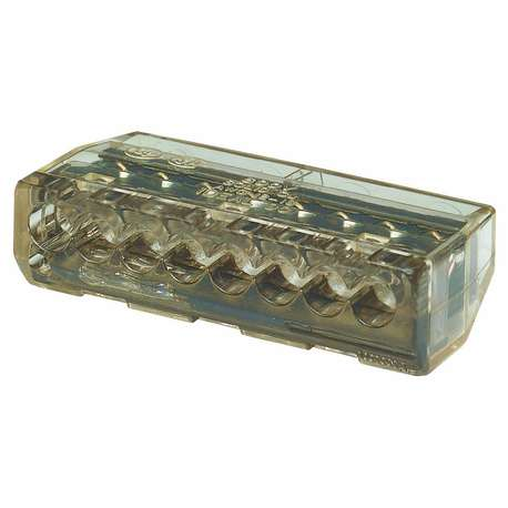 IDEAL 30-090 8 PORT IN-SURE PUSH-IN - BLACK (BOX of 50)