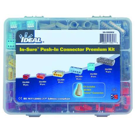 IDEAL 30-5020EU PUSH-IN WIRE CONNECTORS - PREMIUM KIT