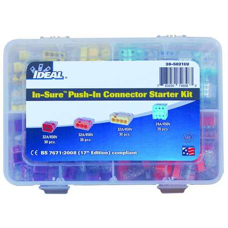 IDEAL 30-5021EU PUSH-IN WIRE CONNECTORS - STARTER KIT
