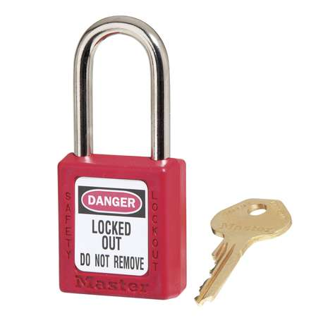 IDEAL K-8334 SAFETY PADLOCK 38MM SHACKLE (KEYED DIFFERENT) - RED