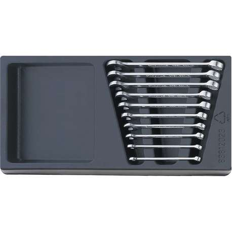 Stahlwille 96838127 ES Combination Spanner Set in Tray – 10 Pieces