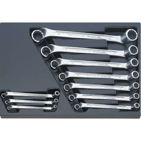 Stahlwille 96838107 ES 20/10 SPANNER SET IN PLASTIC TRAY 6x7 - 30x32mm