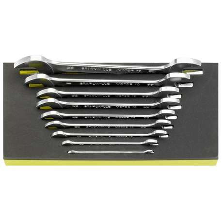 """Stahlwille 96838779 1/4"""" - 1 5/16"""" Double Open-Ended Spanner Set in TCS – 9 Pieces"""
