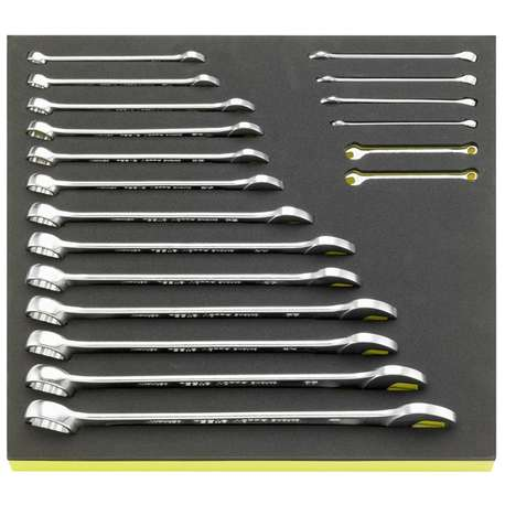 """Stahlwille 96838778 3/16""""- 1"""" TCS Combination Spanner Set – 19 Pieces"""