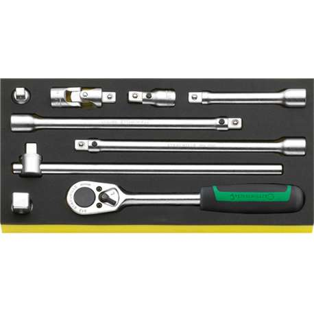 """Stahlwille 96830603 1/2"""" Ratchet with Accessories in TCS Inlay"""
