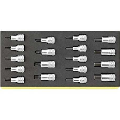 """Stahlwille 96838782 TCS 54/54TX/18. 1/2"""" sockets in TCS inlay"""