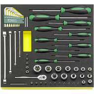 "Stahlwille 96830450 1/4"", 3/8"" & 1/2"" Torx Socket & Bit Set with Ratchet, Screwdrivers, Torx Keys & Spanners - 55 Piece"