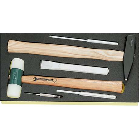 Stahlwille 96838181 TCS 102-109/10956/10960/6 HAMMER & CHISEL SET IN TCS INLAY