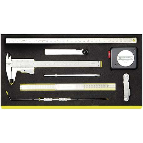 Stahlwille 96838789 TCS 11095-13110/8 RULE, TAPE AND GAUGES SET IN TCS INLAY