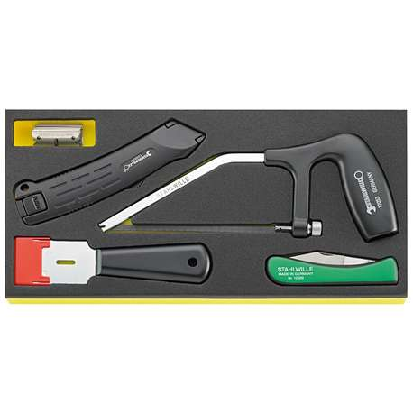 Stahlwille 96838790 TCS 10356-12965/5 SAW, KNIVES AND SCRAPER SET IN TCS INLAY