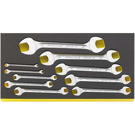 Stahlwille 96830120 6mm - 32mm Double Open-Ended Spanner Set in TCS – 10 Pieces