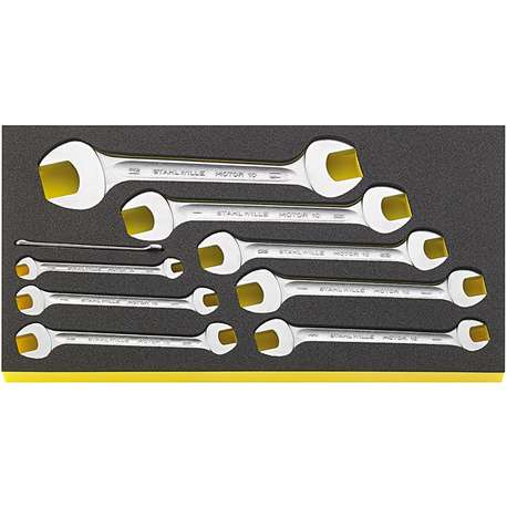 """Stahlwille 96830124 1/4"""" - 1 5/16"""" Double Open-Ended Spanner Set in TCS – 9 Pieces"""