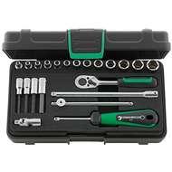 "Stahlwille 96011113 1/4"" Hex Socket (3.5mm - 13mm) & Inhex Socket (3mm - 6mm) Set with Ratchet - 22 Pieces"