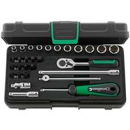 """Stahlwille 96011136 1/4"""" Hex Socket Set (5mm - 14mm) with Inhex, Slotted & Phillips Sockets and Ratchet - 29 Pieces"""