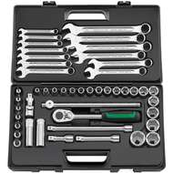 Stahlwille 96032301 Combination Spanner and Socket Set in Plastic Case – 47 Pieces