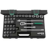"Stahlwille 98811909 1/2"" Hex (8mm - 30mm) & Torx (E10 - 24 & T20 - T60) Socket Set – 39 Pieces"