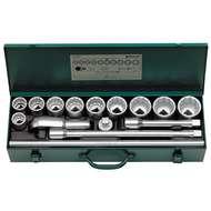 "Stahlwille 96054101 3/4"" Bi-Hex Socket Set (1 1/16"" - 1 7/8"") with Ratchet Head - 15 Pieces"