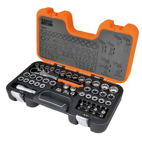 Bahco S530T PASS TROUGHT SOCKET SET,53 PCS