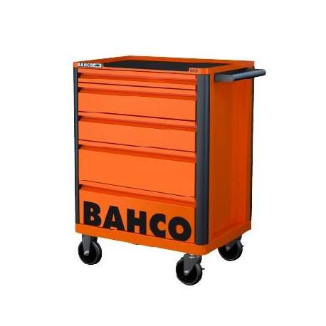 Bahco E72 Storage Hub 5 Drawer Trolley - Orange RAL2009