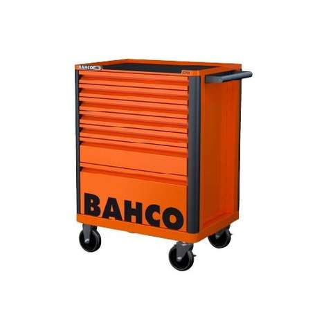 Bahco E72 Storage Hub 7 Drawer Trolley - Orange RAL2009