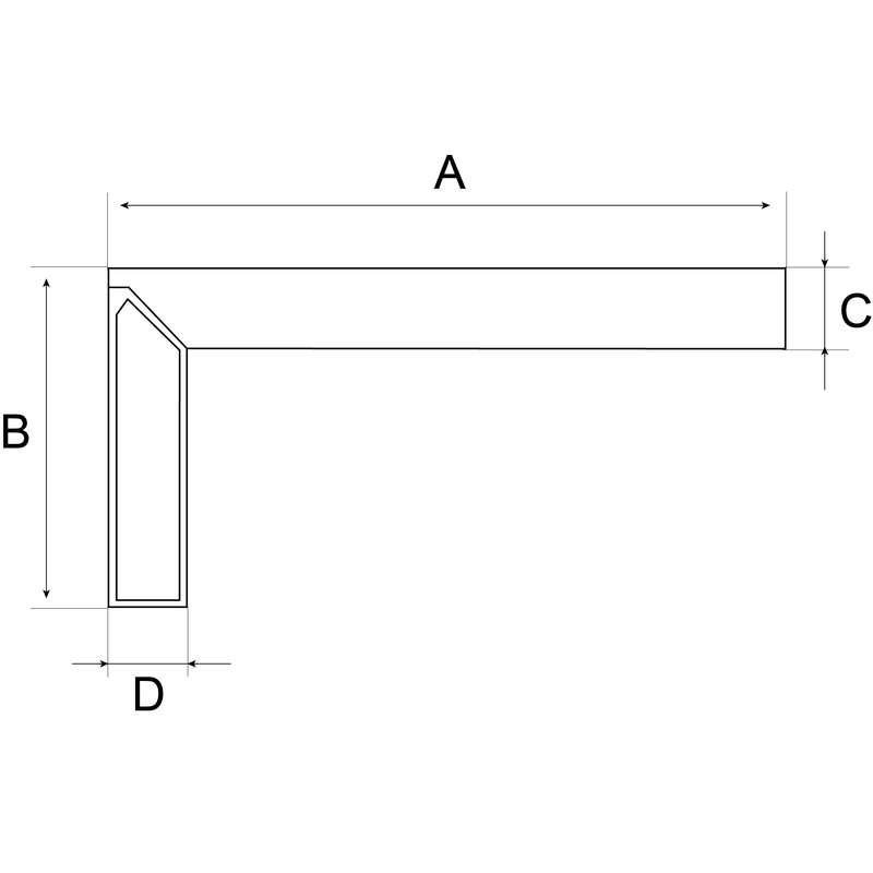 Bahco FCS-1000 Flat Carpenter Square - Heamar Company Limited