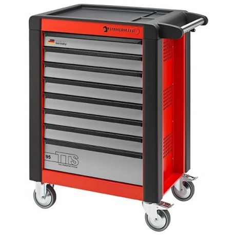 Stahlwille 81200021 95/8R Rosso (Red) TTS Tool Trolley With Eight Drawers
