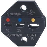Klauke IS501 Crimping dies IS 50, double crimping, 0.5 - 6 mm²