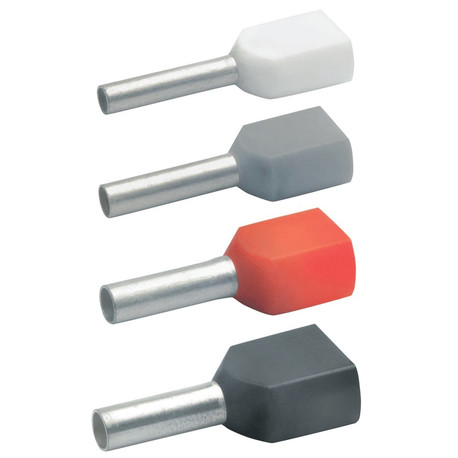 Klauke 87412 Insulated Twin Cable End-Sleeves 2 x 4mm²