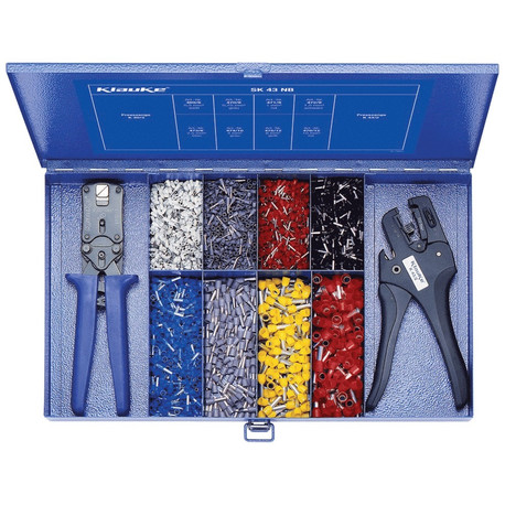 Klauke SK43NB Steel assortment box with insl. cable end-sleeves and tools