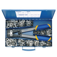 Klauke SK65B Steel assortment box with tubular cable lugs 6-50 mm² and crimping tool K05