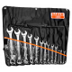 Bahco 111M/14T 6mm - 32mm Flat Combination Wrench Set - 14 Pieces