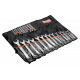 Bahco 111M/24T 6mm - 36mm Flat Combination Wrench Set - 24 Pieces