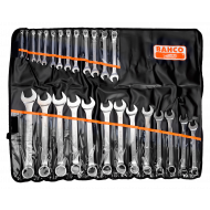Bahco 111M/26T Flat Combination Wrench Set - 26 Pieces