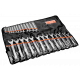 Bahco 111M/26T 6mm - 32mm Flat Combination Wrench Set - 26 Pieces