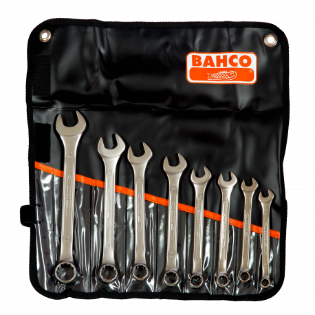 """Bahco 111Z/8T 3/8""""- 7/8"""" Flat Combination Wrench Set - 8 Pieces"""
