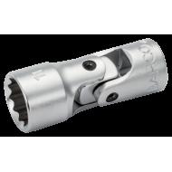 "Bahco A6710DM-12 12mm x 1/4"" Swivel Bi-Hex Socket"