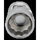 "Bahco A6710DM-7 7mm x 1/4"" Swivel Bi-Hex Socket"