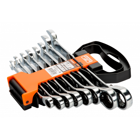Bahco 1RM/SH8 8mm - 19mm Combination Ratcheting Wrench Set – 8 Pieces
