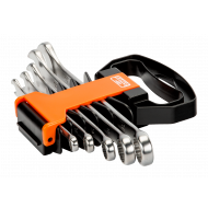 Bahco 111M/SH5 8mm - 19mm Flat Combination Wrench Set – 5 Pieces