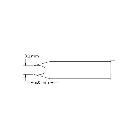 Metcal GT6-CH0032P Power, 3.2mm x 6mm GT6 Chisel Soldering Tip