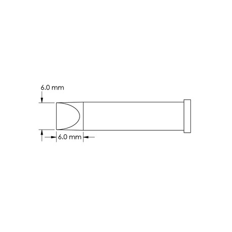 Metcal GT6-CH0060P Power, 6mm x 6mm GT6 Chisel Soldering Tip