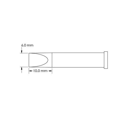 Metcal GT6-CH0060S 6mm x 10mm GT6 Chisel Soldering Tip