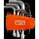 Bahco BE-9878 OFFSET KEYS HOLDER 9PCS NICKEL