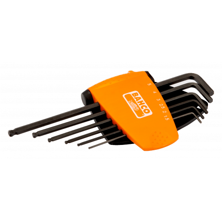 Bahco BE-9676 Long Ball End Hex L-Key Set – 6 Pieces